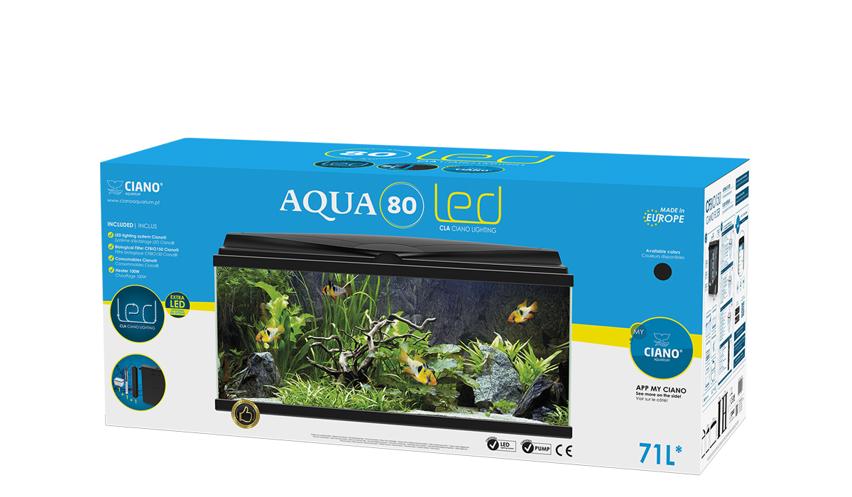 ciano aqua 80 black led waterworld aquatics. Black Bedroom Furniture Sets. Home Design Ideas